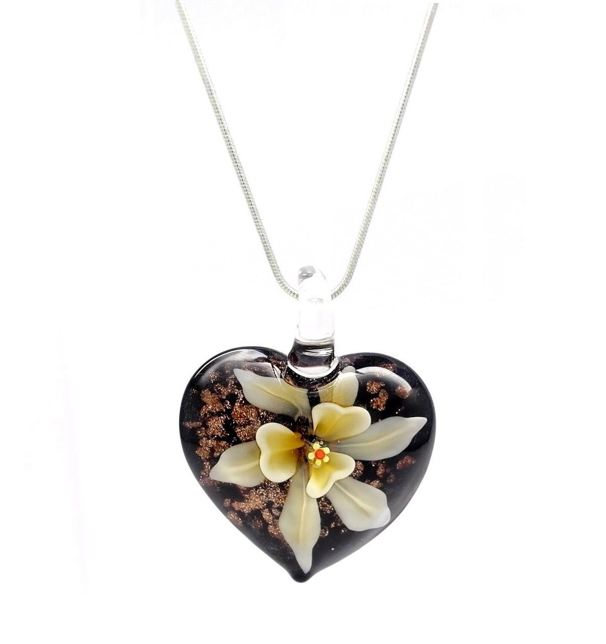 mum pendant shaped yellow gold heart cz necklace