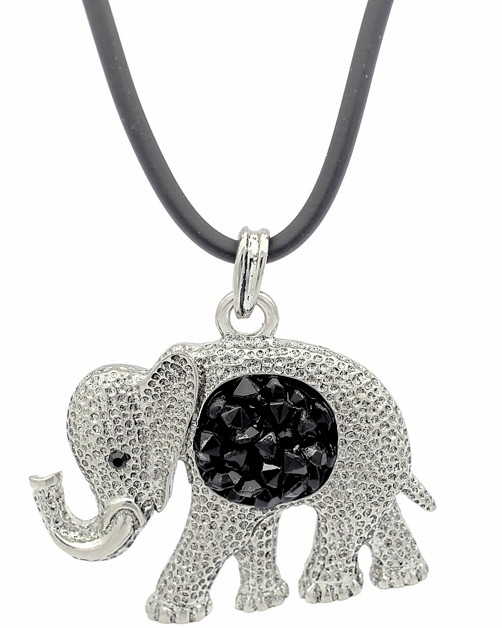 pewter thong head leather elephant pendant st large justin necklace