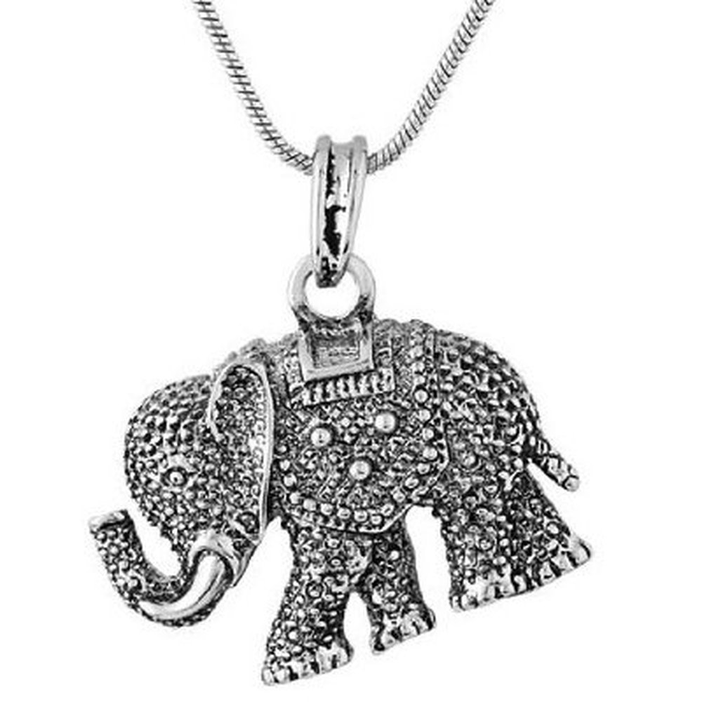 Elephant Necklace on Midi Elephant Necklace