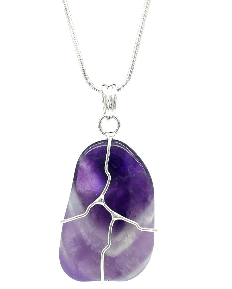 amethyst stone necklace - photo #5