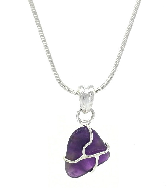 amethyst stone necklace - photo #24
