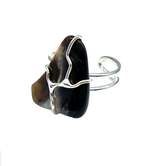 Raw Onyx Stone Cocktail Ring