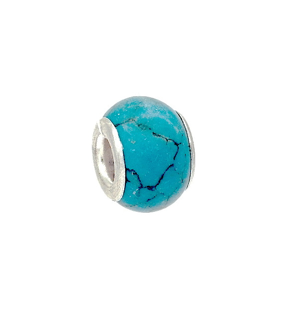 Turquoise Stone Charm Bead Slide On Amp Off Bracelet Bead